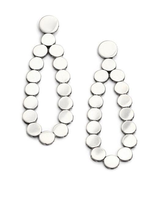 John Hardy | Metallic Dot Sterling Silver Teardrop Earrings | Lyst