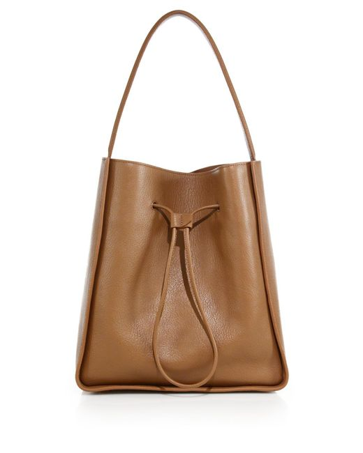 3.1 Phillip Lim | Natural Soleil Large Leather Drawstring Bucket Bag | Lyst