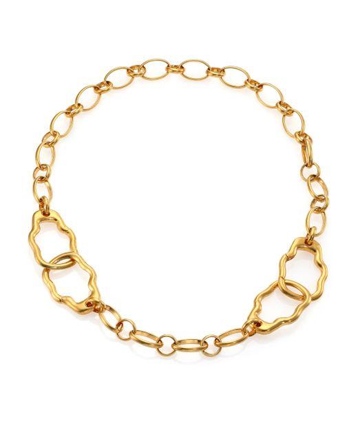 Alexander McQueen   Metallic Skull Link Bracelet for Men   Lyst