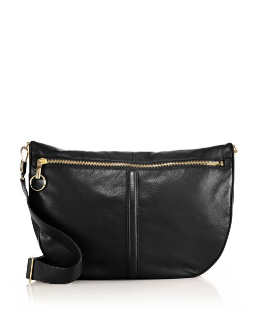 Elizabeth and James | Black Scott Leather Convertible Crossbody Hobo Bag | Lyst