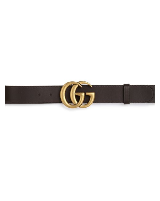 Gucci   Brown Gg Leather Belt for Men   Lyst
