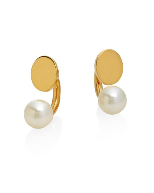 Chloé | Metallic Darcey Faux Pearl Arc Earrings | Lyst