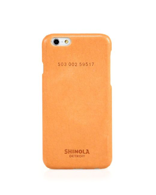 Shinola | Orange Essex Leather Iphone 6 Case | Lyst