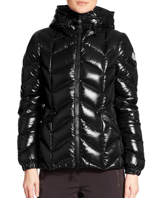 Moncler | Black Badete Hooded Jacket | Lyst