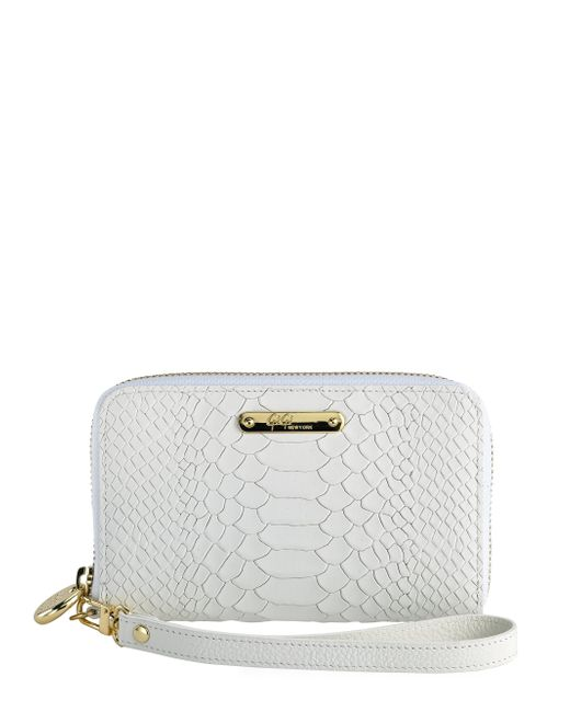 Gigi New York | Natural Python-embossed Leather Phone Wristlet | Lyst