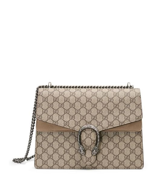 Gucci | Natural Dionysus Gg Supreme Medium Canvas Shoulder Bag | Lyst