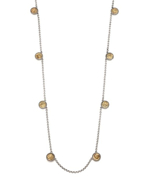 Konstantino | Metallic Kerma Bronze & Sterling Silver Coin Station Necklace | Lyst