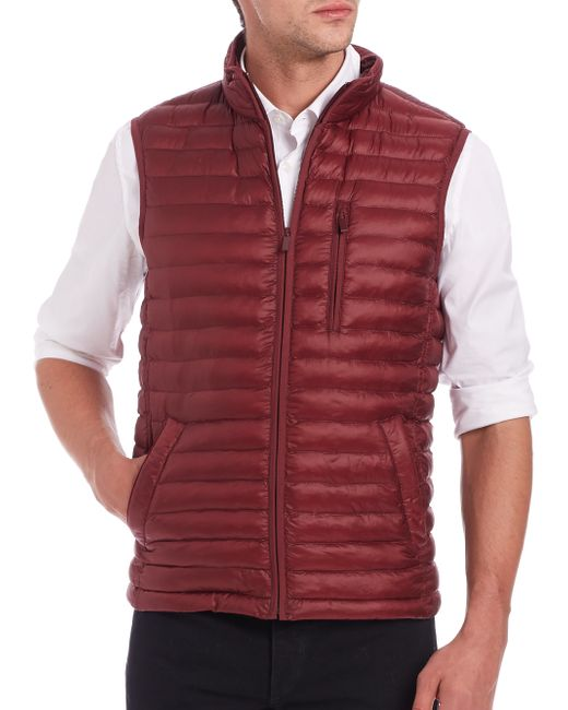 Saks Fifth Avenue | Red Thermoluxe Puffer Vest for Men | Lyst