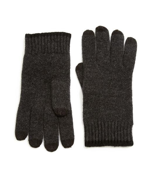 Saks Fifth Avenue | Gray Color-tipped Cashmere Gloves for Men | Lyst