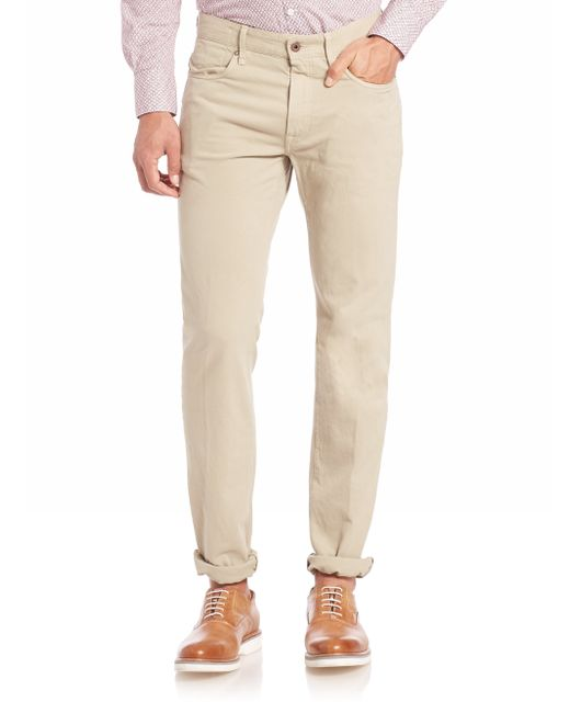 Incotex | Natural Cotton Stretch Casual Pants for Men | Lyst