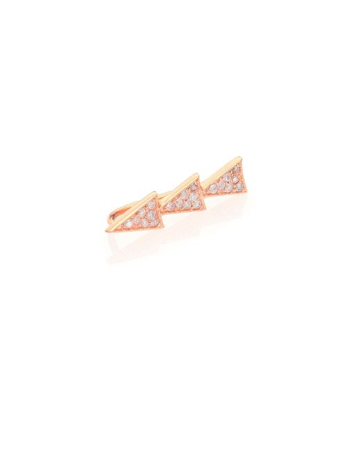 Sydney Evan | Metallic Diamond & 14K Rose Gold Trio Triangle Single Ear Cuff | Lyst