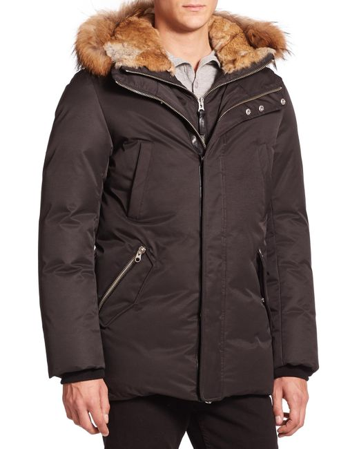 Mackage | Black Fur-trim Hip-length Down Jacket for Men | Lyst