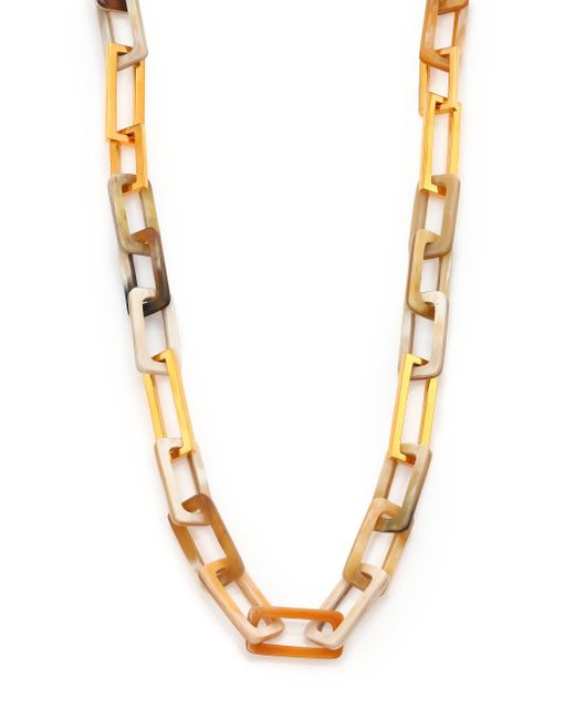 Maiyet Blonde Horn Medium Link Necklace in Metallic   Lyst