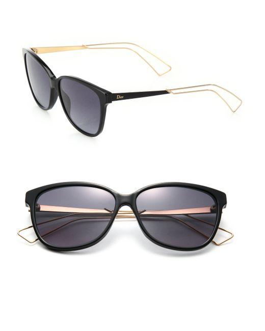 Dior | Black Confident 57mm Square Sunglasses | Lyst