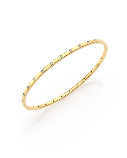 Ippolita | Metallic Glamazon Stardust Diamond & 18k Yellow Gold Bangle Bracelet | Lyst