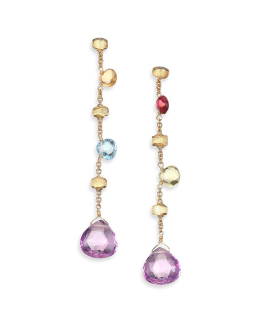 Marco Bicego | Metallic Paradise Semi-precious Multi-stone Multicolor 18k Yellow Gold Drop Earrings | Lyst