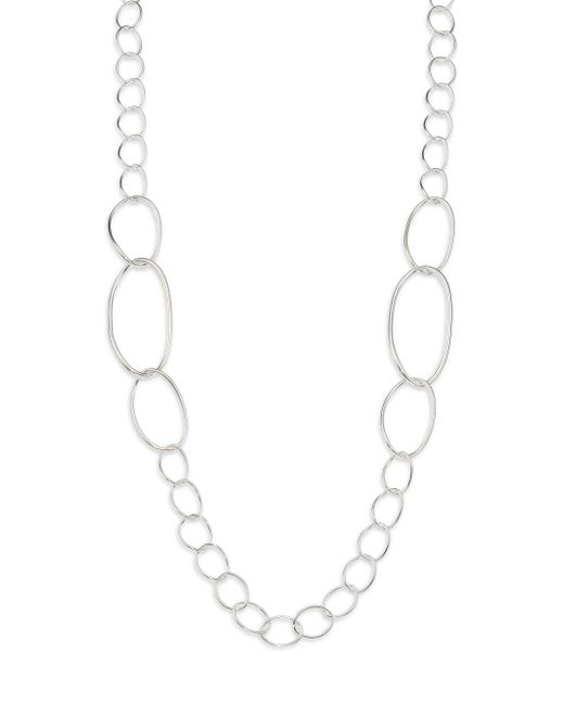 Ippolita   Metallic Glamazon Sterling Silver Twisted Oval Link Necklace   Lyst