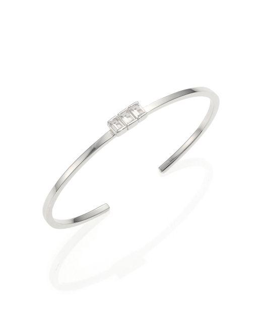 Jennifer Zeuner | Metallic Dasha White Sapphire & Sterling Silver Cuff Bracelet | Lyst