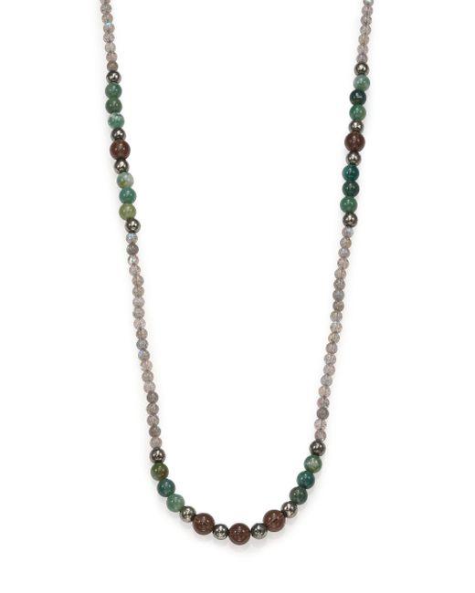 Stephanie Kantis   Metallic Labradorite, Green Moss Agate & Smoky Topaz Long Beaded Necklace   Lyst