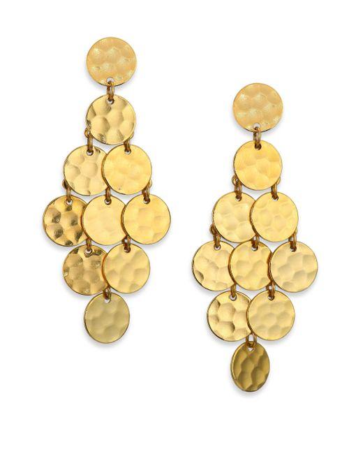 Stephanie Kantis | Metallic Shimmer Chandelier Earrings | Lyst