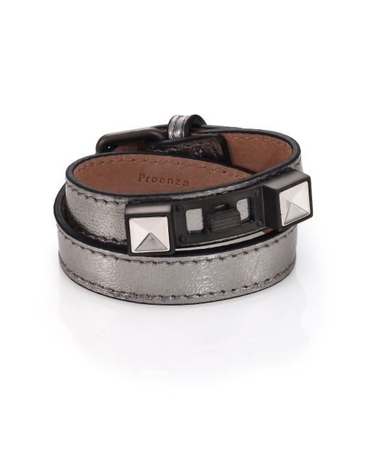 Proenza Schouler | Ps11 Metallic Leather Double-wrap Bracelet | Lyst
