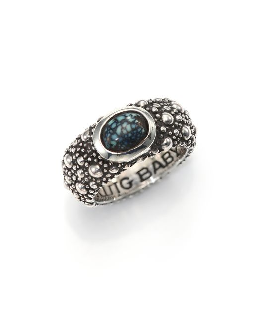 King Baby Studio | Blue Sterling Silver & Turquoise Ring | Lyst