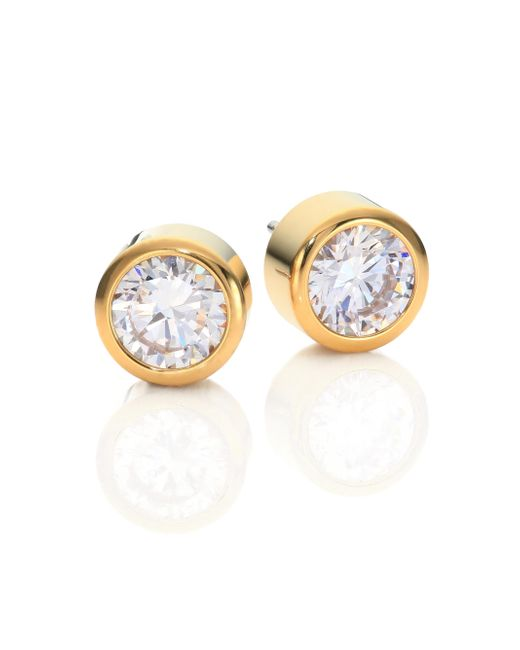 Michael Kors | Metallic Park Avenue Glam Jeweled Stud Earrings/goldtone | Lyst