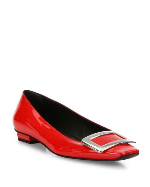 Roger Vivier | Red Belle Vivier Patent Leather Mid-heel Pumps | Lyst