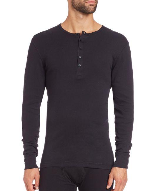 2xist | Black Long-sleeved Cotton Shirt for Men | Lyst