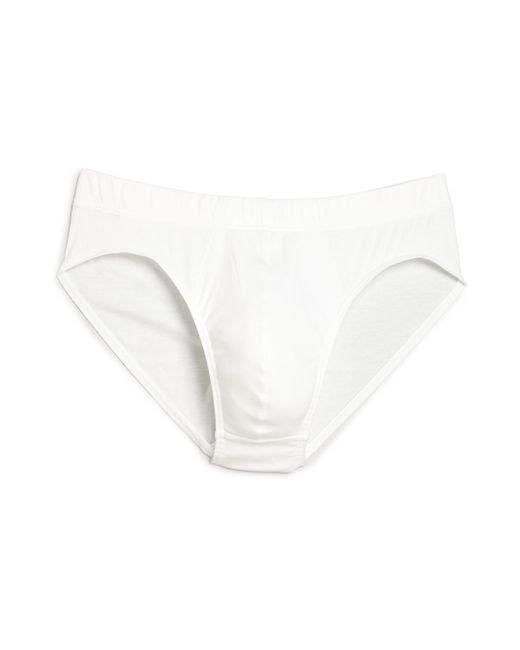Hanro   White Sea Island Cotton Cotton Briefs for Men   Lyst