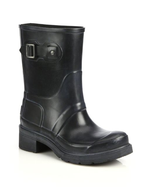 Hunter | Black Original Ankle Rain Boots | Lyst