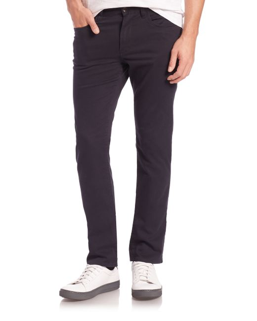 Vince | Blue Essential Five-pocket Straight-leg Soho Jeans for Men | Lyst