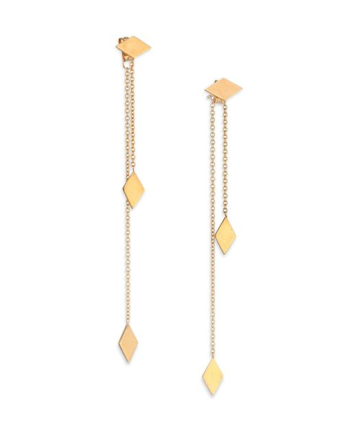 Zoe Chicco | Metallic 14k Yellow Gold Kite Ear Jacket & Drop Earrings Set | Lyst