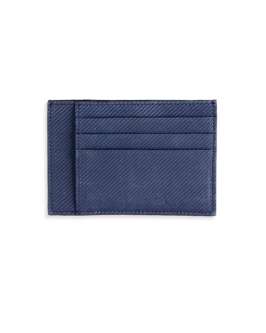 Saks Fifth Avenue | Blue Carbon Fiber Card Case for Men | Lyst