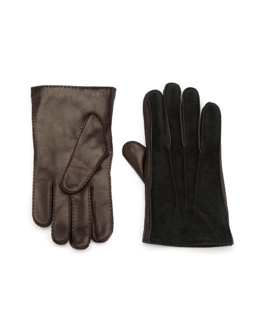 Portolano | Black Cashmere-lined Leather Gloves for Men | Lyst