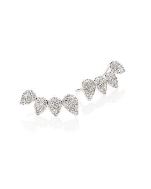 Meira T | Metallic Diamond & 14k White Gold Cluster Ear Cuffs | Lyst