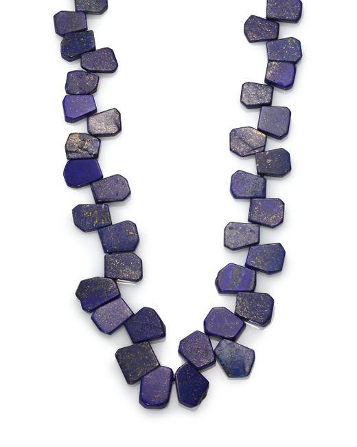Nest | Blue Lapis Cluster Long Necklace | Lyst