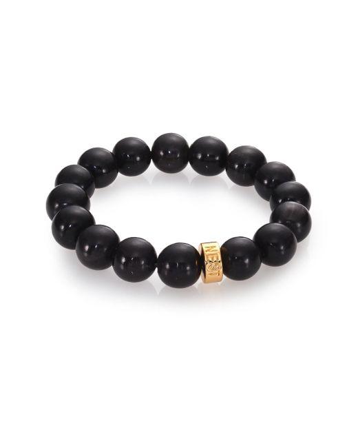 Nest | Black Horn Beaded Stretch Bracelet | Lyst