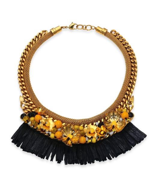 Lizzie Fortunato | Metallic Tortola Beaded Hula Fringe Necklace | Lyst