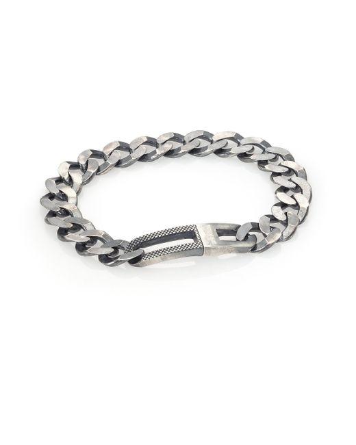 Tateossian | Metallic Grumette Silver Bracelet for Men | Lyst