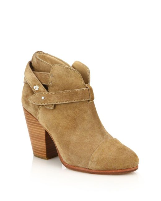 Rag & Bone | Natural Harrow Suede Bootie | Lyst