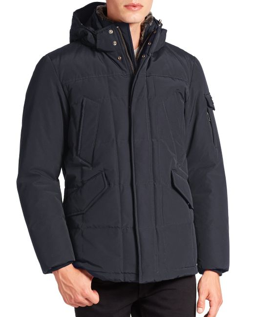 Woolrich   Blue Zipped Jacket With Wool And Cotton for Men   Lyst
