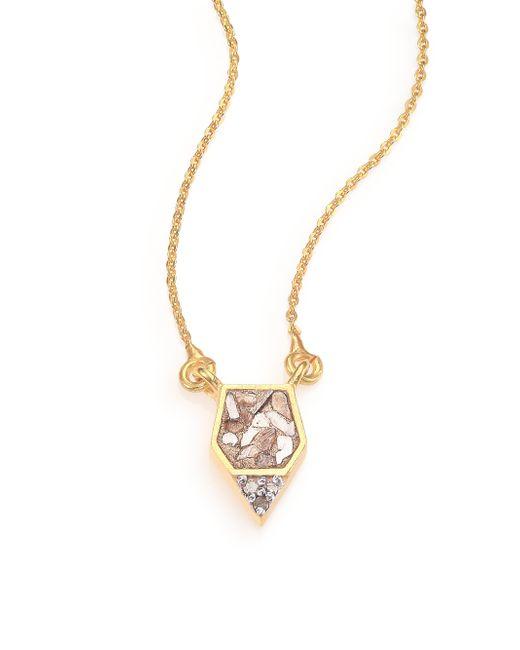 Shana Gulati | Metallic Charushila Bijou Champagne Diamond Pendant Necklace | Lyst