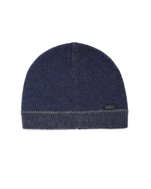 John Varvatos   Blue Jersey Whip-stitched Skull Hat for Men   Lyst