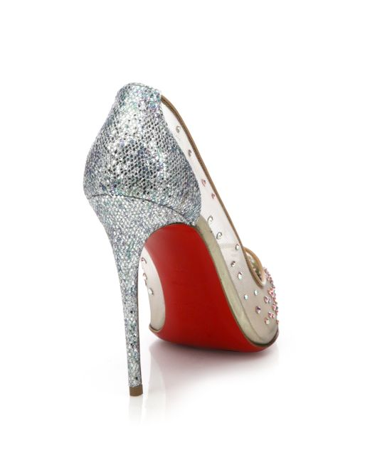 Christian louboutin Follies Strass Crystal-Embellished Mesh Pumps ...
