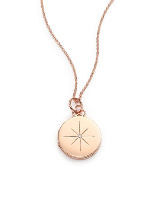 Devon Woodhill | Metallic 18k Polished Rose Gold & Diamond North Star Locket | Lyst