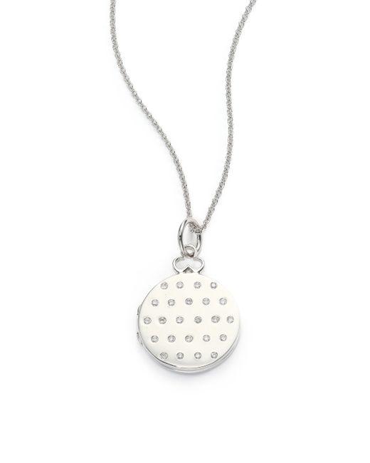 Devon Woodhill | Metallic 18k Polished White Gold & Diamond Jane Locket | Lyst