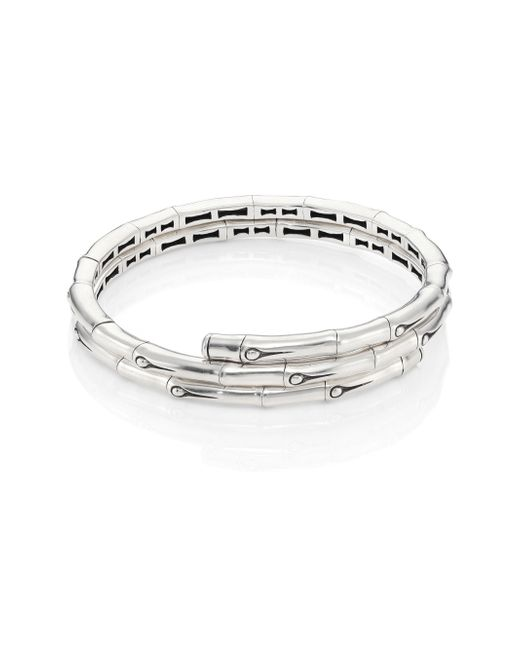 John Hardy | Metallic Bamboo Small Sterling Silver Coil Bracelet | Lyst