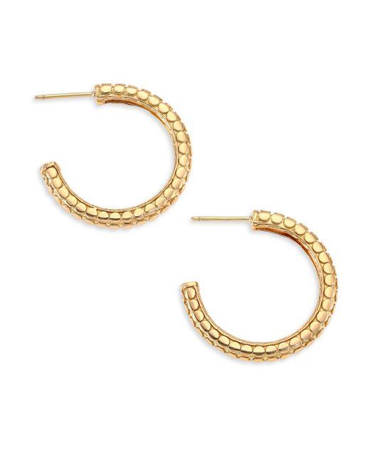 John Hardy   Metallic Classic Chain Sterling Silver Hoop Earrings/0.8   Lyst