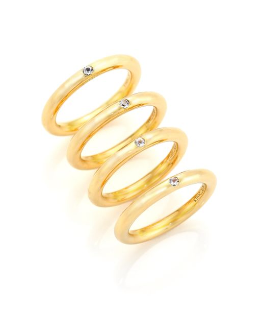 Elizabeth and James | Metallic Neri Collection Stacking Ring Set | Lyst